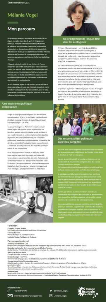 Télécharger la profession de foi de Mélanie Vogel en pdf